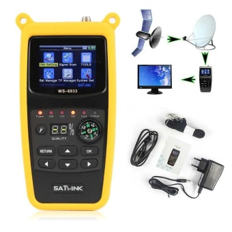 SATLINK WS-6933 DVB-S DVB-S2 HD Satellite Finder Mesureur Pointeur Ultra Rapide - intl