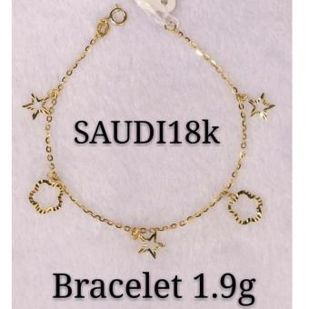 Saudi Gold 100% Authentic 18K bracelets 1.9g
