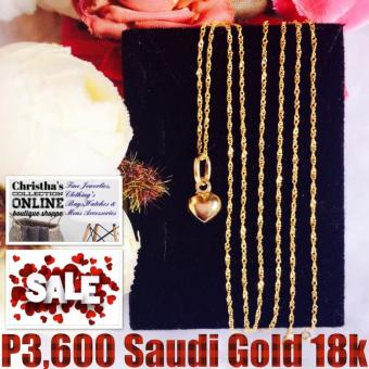 Saudi Gold 18K Necklace Chain & Pendant Pawnable Christha'sCollection Online Boutique Shoppe