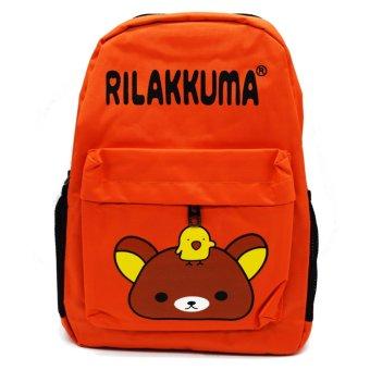 School Back Pack Bag Rilakkuma Design (Orange)
