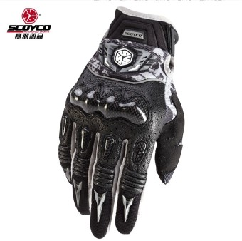 Scoyco leather drop-resistant motorcycle riding gloves race car gloves