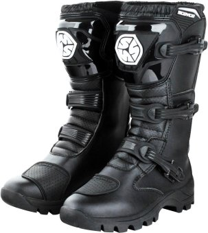 Scoyco(R) MBT-Series MBT-012 Motorcycle International Boots Touring& Racing (Black) (Size 44)