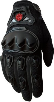 Scoyco(R) MC-Series MC29 Motorcycle Gloves w/ Knuckle Touring &Racing (Black) (XL)