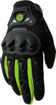 Scoyco(R) MC-Series MC29 Motorcycle Gloves w/ Knuckle Touring &Racing (Neon Green) (M)