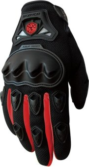 Scoyco(R) MC-Series MC29 Motorcycle Gloves w/ Knuckle Touring &Racing (Red) (XL)
