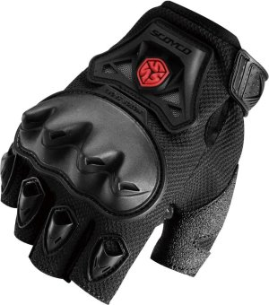 Scoyco(R) MC-Series MC29D Motorcycle Gloves w/ Knuckle Touring &Racing (Black) (M)