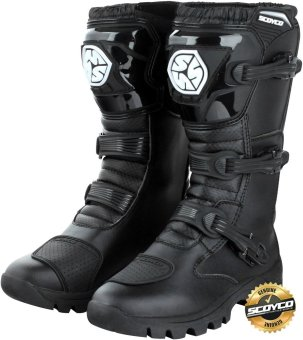 Scoyco Premium Gears MBT-Series MBT-012 Hybrid Touring MotorcycleMotocross Off Road Racing Riding Gear Boots (Black)