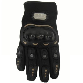 SEC 00789 Motorcycle Black Whole Finger Gloves - 2