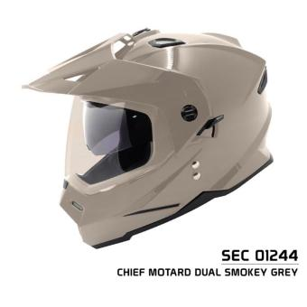 SEC 01244 Chief Motard Dual Smokey Grey Helmet (2017 Collection)