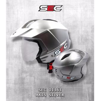 SEC 01363 Axis Silver Open Face Helmet Price Philippines