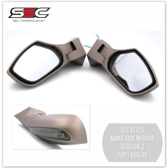SEC 01723 YAMAHA NMax Side Mirror with LED Turn Signal Light