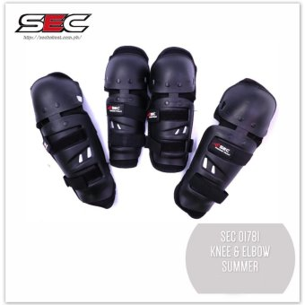 SEC 01781 Motorcycle Knee and Elbow Guard Protector