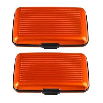 Security Card Wallet Set of 2 (Orange)