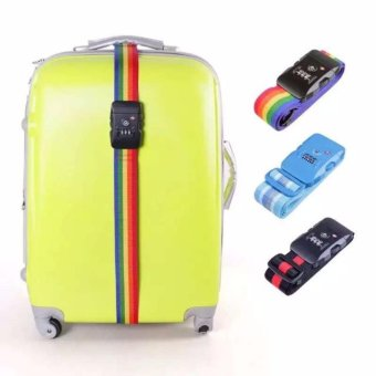 Security Travel Adjustable Belt Lock Luggage Suitcase Strap