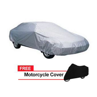 Sedan Car Cover (Grey) with FREE Motorcycle Cover