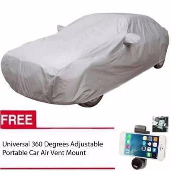 Sedan Car Cover (Grey) with FREE Universal 360 degrees car mount