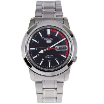 Seiko 5 Automatic Black Men's Stainless Watch SNKK31K1