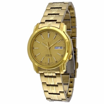 Seiko 5 Automatic Gold Dial Gold Stainless Steel Men's Watch SNKL86K1