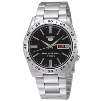 Seiko 5 Black Dial Stainless Steel Automatic Men's Watch SNKE01K1