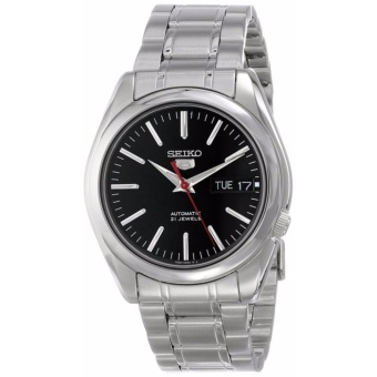 Seiko 5 Black Dial Stainless Steel Automatic Men's Watch SNKL45K1