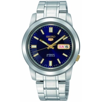 Seiko 5 Blue Dial Stainless Steel Automatic Men's Watch SNKK11K1