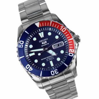 Seiko 5 Blue Dial Stainless Steel Automatic Mens Watch  SNZF15K1