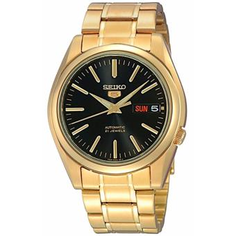 Seiko 5 Gold Toned Stainless Steel Automatic Men's Watch SNKL50K1
