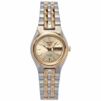 Seiko 5 Ladies Dual Tone Stainless Steel Automatic Watch SYM798
