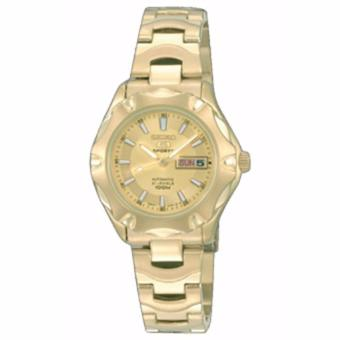 Seiko 5 Ladies Gold Toned Stainless Steel Automatic Watch SYMJ50K1