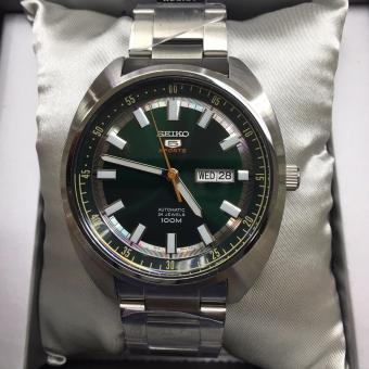 Seiko 5 Sports SRPB13K1 Automatic Stainless Steel Green Dial Watch