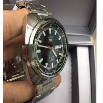 Seiko 5 Sports SRPB13K1 Automatic Stainless Steel Green Dial Watch - 2