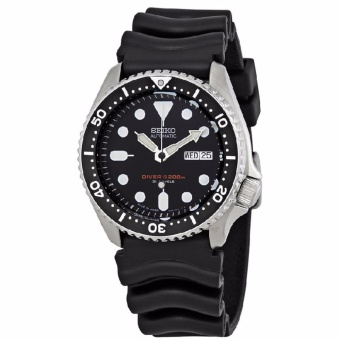 Seiko Automatic Diver's Watch Black Resin Strap SKX007J1 200m Made in Japan Men's Watch - intl