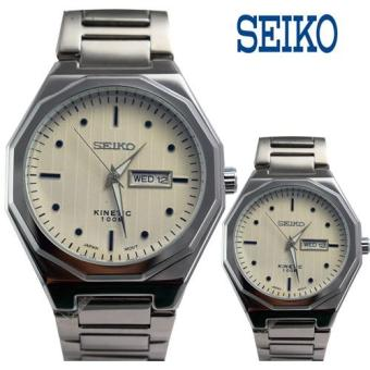 Seiko Couple Watch Silver Case Stainless-Steel Bracelet Mens Made in Japan (Silver-