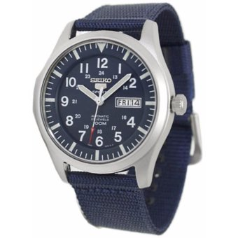 Seiko Military Style Blue Nylon Strap Blue Dial Automatic Watch SNZG11K1