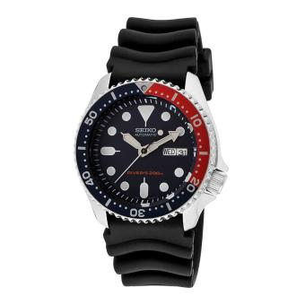Seiko Watch Automatic Diver's Black Stainless-Steel Case Rubber Strap Mens NWT + Warranty SKX009K1