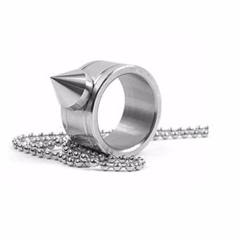 Self Defence Stainless Steel Ring Necklace #0113 (Silver)