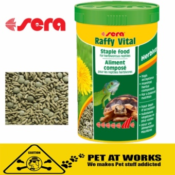 Sera Raffy Vital Turtle or Reptile Food (1000ml) For Pets TurtleFood tortoises and other herbivorous reptiles.