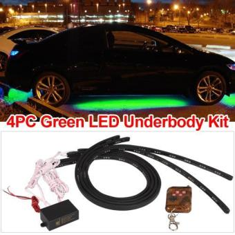Set 4 Car Underbody Under Glow Green Led Light Strip - picture 2