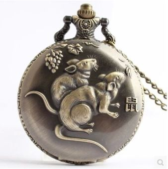 Sharer Zodiac large Commemorative Collection pocket watch