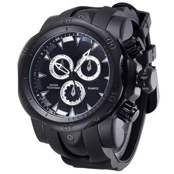 SHHORS 80085 Men Silicone Strap Quartz Sports Watch (Black )