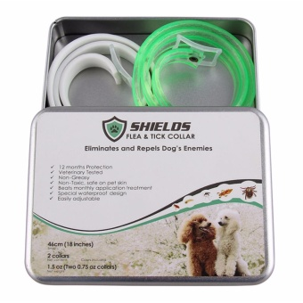 Shields Flea and Tick Collar for Dogs size 46 cm (small dogs up to 8 kg or 18 lbs) -2 pcs