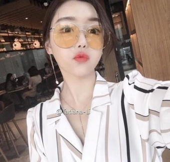 SHININGSTAR transparent celebrity inspired bomber sunglasses SUN glasses