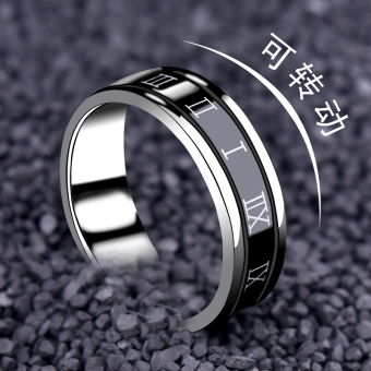 Shishang romantic party titanium steel ring