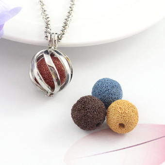 Shishang volcanic stone incense aromatherapy essential oil necklace