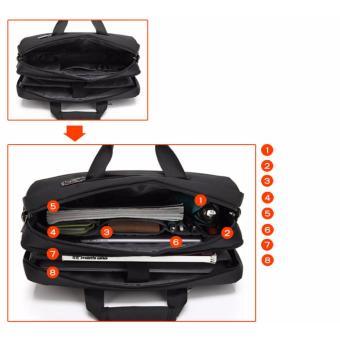 Shockproof computer bag laptop messenger handbag 17.3'' black - 4