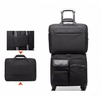 Shockproof computer bag laptop messenger handbag 17.3'' black - 2