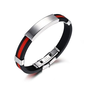 Silicone Bracelets for Men and Women(red) Price Philippines