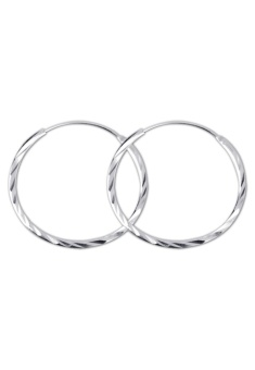 Silver Loop Earring (Silver) for kids