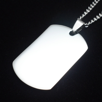 Silver Tone English Our Father Lord's Prayer Dog Tag PendantNecklace 60cm - Intl - 3