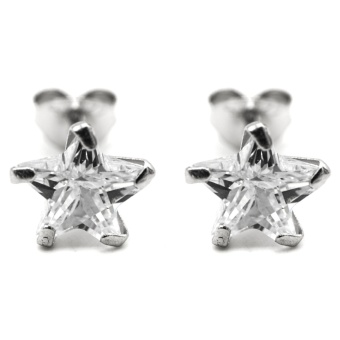 Silverworks E7157 Precious Star Zircon Stud Earrings